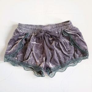 Free People Velvet Shorts